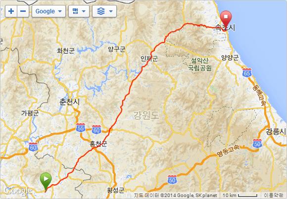 용문_속초_지도